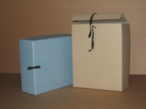 Archive box, grey, acid free