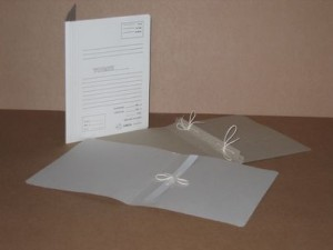 File covers with 1 and 2 bands