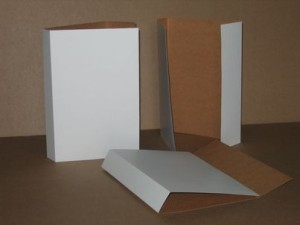 Document covers, white/brown cardboard 315x565