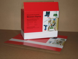 Shipping package for battery-powered drill
