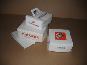 Cake boxes with print