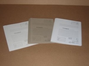 File covers A4, grey with print and white/grey with print