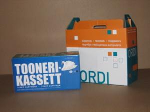 Транспортировочная упаковка для расходных материалов принтера и для компьютеров