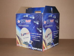 Shipping package for satellite accessories