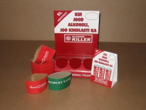 Juomateolisuuden mainosalustat ja kuumapakkaukset
